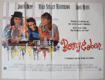 Benny & Joon, Original UK Quad Poster, Johnny Depp, Mary Stuart Masterson, '93